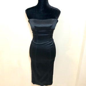 BEBE Satin Midi Dress!